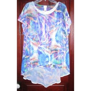 Chico's 3 L XL Tunic Top Blouse Shirt Lagenlook